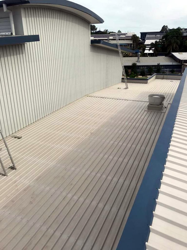 Commercial Building Roof Cleaning