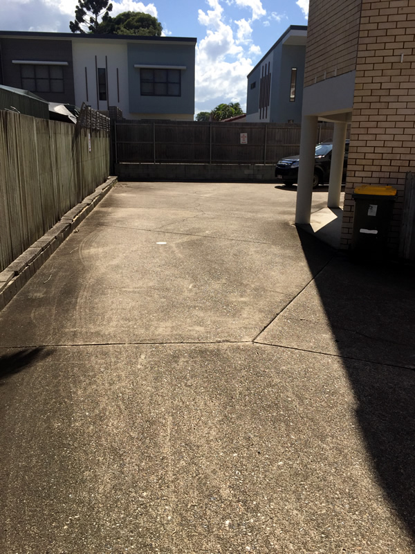 Commercial Carpark Before Pressure Washing