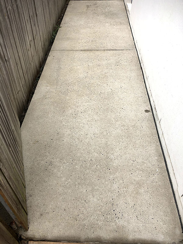 Concrete Pathway After Pressure Cleaning