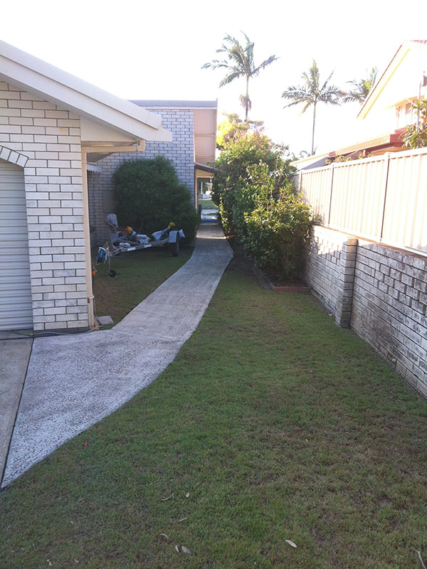 Concrete Pathway After Pressure Washing
